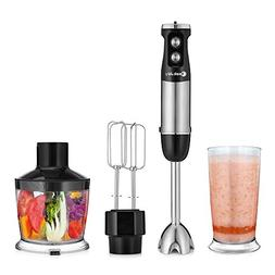 Immersion Blender, COOKJOY 500 Watt 6-Speed Hand Mixers For