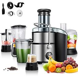 Costway 5-in-1 Food Processer, Smoothie Blender, Wide Mouth
