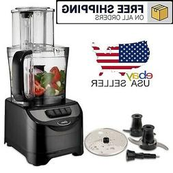10 Cup Food Processor Vegetable Chopper Grater Dual Blade Di