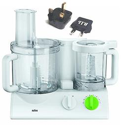 Bundle 2 Items: Food Processor + WTP Plug Kit - Braun FX3030