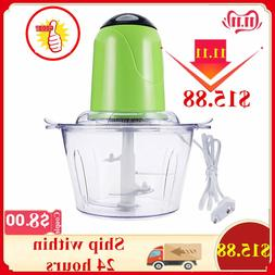 2L Electric Chopper Powerful Meat Grinder <font><b>Stainless