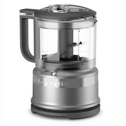 KitchenAid 3.5 Cup Mini Food Processor Chopper, Silver