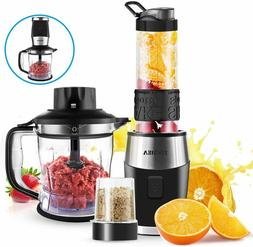 3 In 1 Blender and Food Processor Combo Grinder with Portabl