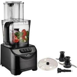 500 Watt 10 Cup Black Food Processor