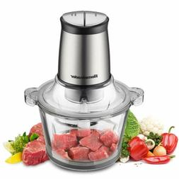 Homeleader 8 Cup Food Processor 2L BPA-Free Glass Bowl Blend