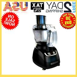 8 Cup Food Processor, Large Stainless Steel Chopping Blade,