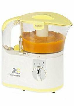 Kalorik Chopper/Baby Food Maker, White/Yellow, 2-Cup