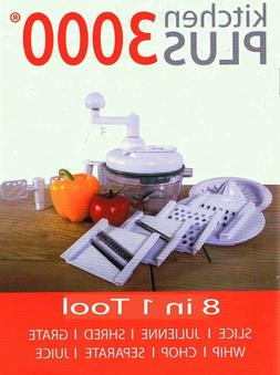 Kitchen Plus 3000 Food Chopper - 8 in 1 Manual Food Processo