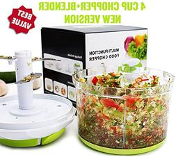 Arc Shaped Blade Manual Food Chopper Compact & Hand Held Veg