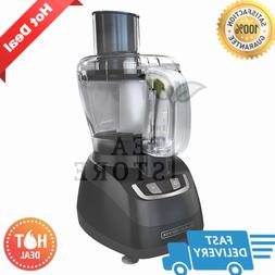 Black & Decker 8 Cup black, 450 Watt Food Processor Slices,