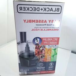 BLACK & DECKER Easy Assembly 8-Cup Food Processor 3-IN-1, Bl