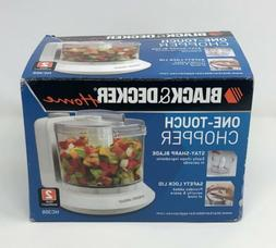 Black & Decker HC306 1-1/2-Cup One-Touch Electric Chopper Wh