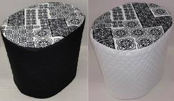 Black & White Mosaic Damask Food Processor Cover