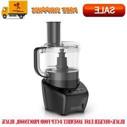 BLACK+DECKER Easy Assembly 8-Cup Food Processor, Black, Kitc