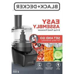BLACK+DECKER Easy Assembly 8-Cup Food Processor, Black, FP42