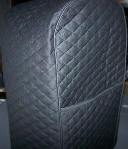 Black  Quilted Fabric KitchenAid 9 Cup Food Processor Cover