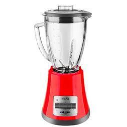 Oster BLSTMG Red 8 Speed 6-Cup Glass Jar Blender, 220 Volts
