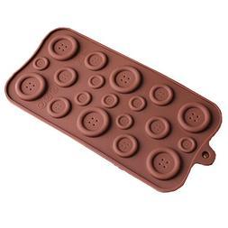 mojj Button Shaped 3D Silicone Mold DIY Fondant Mold Baking