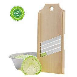 Wooden Cabbage Shredder Slicer + Bonus Kitchen Recipes - Sup
