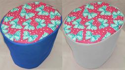 Canvas Teal & Pink Butterflies Food Processor Cover