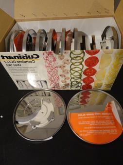 CUISINART DLC-7 FOOD PROCESSOR COMPLETE 9 DISC SET 1,2,3,4,6