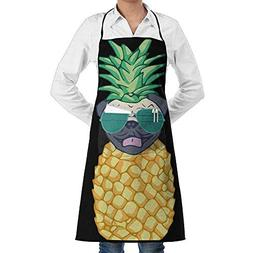 Liliynice Deluxe Cooking Aprons, Pineapple Pug Sunglasses Fa