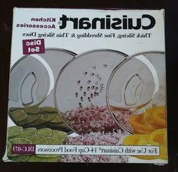 Cuisinart DLC-073 Specialty 3 Disc Set NIB Shred Slice For 1