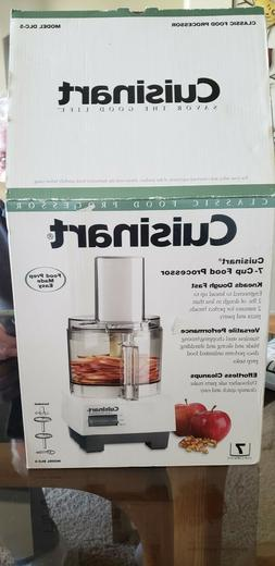 Cuisinart DLC-5  Classic 7-Cup Food Processor, White NEW! W/