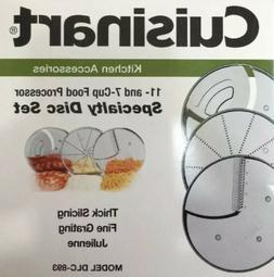 Cuisinart DLC-893 3-Piece Specialty Disc Set Fits 7 & 11 Cup