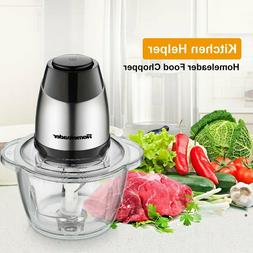 Electric Food Chopper 5 Cup 1.2L Glass Bowl Grinder Food Pro