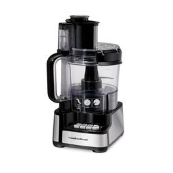 Electric Food Processor Stack Snap 12 Cup 3 Speed Stainless