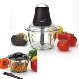 Electric Food Processor Vegetable Fruit Cutter 4 Cup Glass O