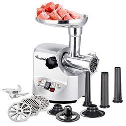 Ivation 2.5hp Electric Meat Grinder Mincer 1800 Watt, Sausag