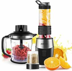 FOCHEA 3 In 1 Blender and Food Processor Combo,Smoothie Shak