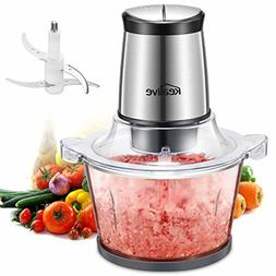 Food Chopper, Kealive 10 Cup Food Processor, Electric Meat G