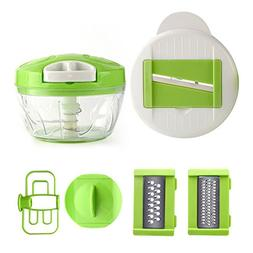 Food Chopper Blender Vegetable Slicer Hand Held Onion Garlic