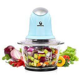 POSAME Food Chopper 4 Cup Glass Bowl , One-Touch Multipurpos