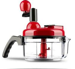 Food Chopper Hand Crank Food Processor Chopper Vegetable Qui
