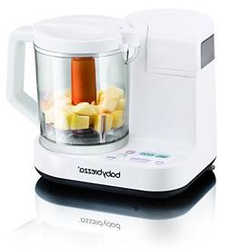Baby Brezza Food Maker Glass Large 4 Cup Capacity, White by