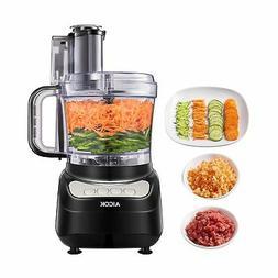 Food Processor 12-Cup, Aicok Food Processor Blender, Multi-F