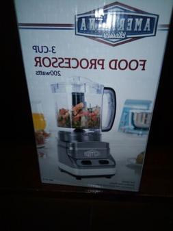 Food Processor 3- Cup 200 Watts By Americana Classics