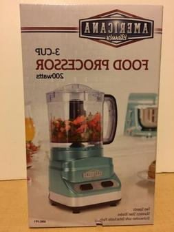 Americana Classics Food Processor 3 Cup 200 Watts Stainless