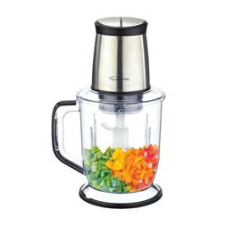 Food Processor 6.5 Cup Durable Stainless Steel Blade 2 Pulse