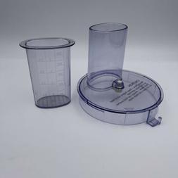 Braun Food Processor Parts Work Bowl Lid & Pusher 4243 4258