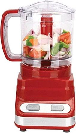 Brentwood 3 Cup Food Processor In Red  by Brentwood