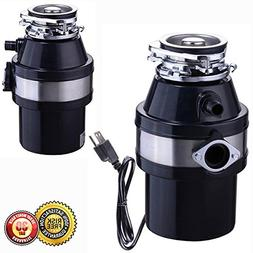 New Garbage Disposal 1.0 HP Continuous Feed Home Kitchen Foo