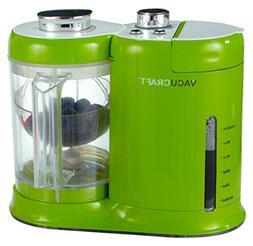 Vacucraft Green Baby Food Processor Steamer Cooker