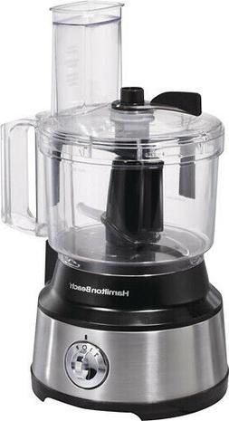 Hamilton Beach - 10-Cup Food Processor - Silver/Black