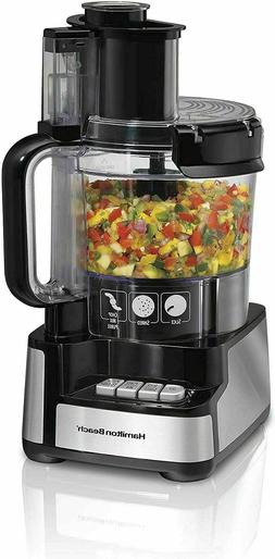 12-Cup Stack & Snap Food Processor & Vegetable Chopper, Blac