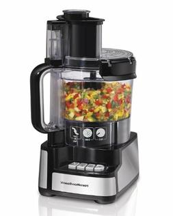 Hamilton Beach 70725A 12-Cup Stack Snap Food Processor and V